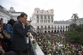 Ecuador President Rafael Correa, a critic of US foreign policy, wins third term, defeating nearest rival by more than 30 percentage points.