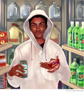 Trayvon Martin - Art by Andrea Montano Image from sandrarose.com