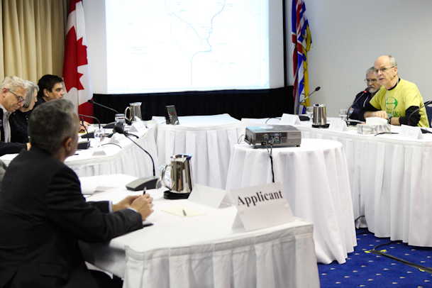 After thousands registered to speak out against the Enbridge Northern Gateway pipeline, Harper moved to limit speech at National Energy Board hearings. Photo: David P. Ball