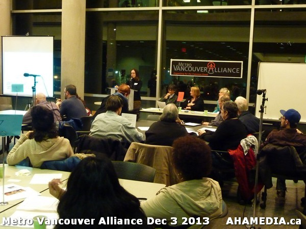 December 3, 2013 meeting of Metro Vancouver Alliance. Image - Aha Media
