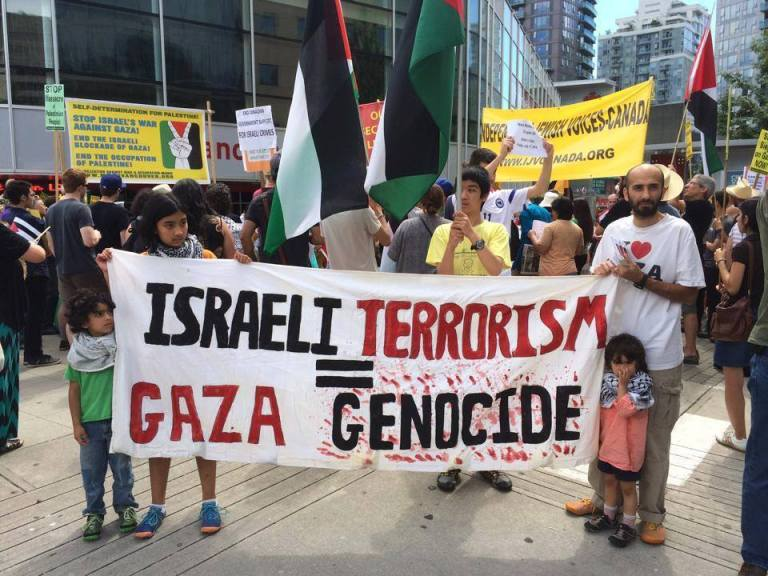 Emergency Protest for Gaza - Vancouver July 12, 2014