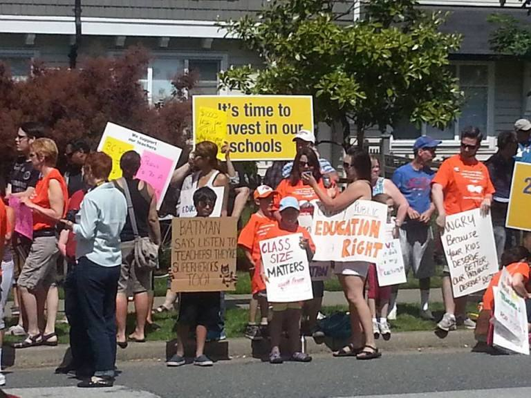 Rally for Public Education - photo by Jane Bouey