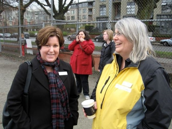 Patti Bacchus & Jane Bouey 2010 Bayview Parents Rally.