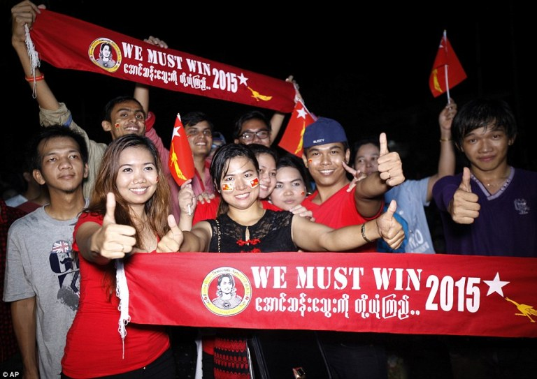 National League for Democracy Supporters in Burma (Myanmar)