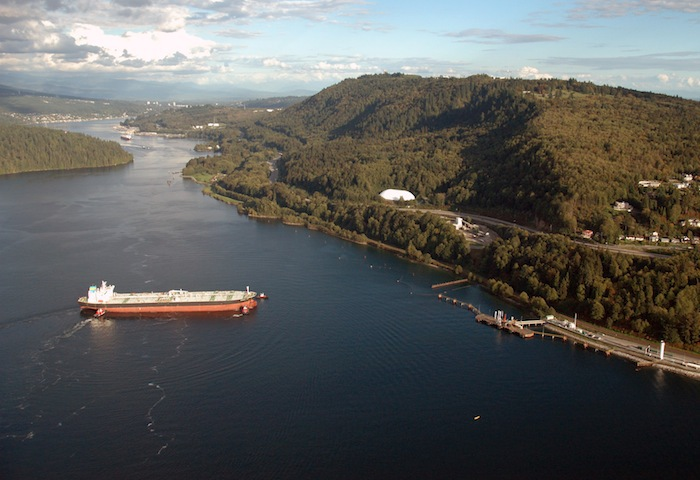 Burnaby Mountain and Kinder Morgan's Westridge pipeline terminus