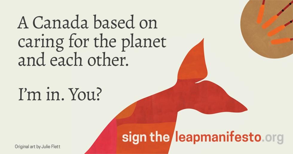 LEAP Manifesto image by Julie Flett